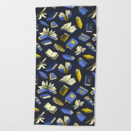 Spellbooks, blue Beach Towel