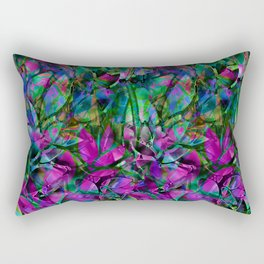 Floral Abstract Stained Glass G276 Rectangular Pillow