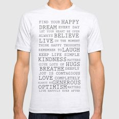 Positive Thoughts  Ash Grey 2X-LARGE Mens Fitted Tee