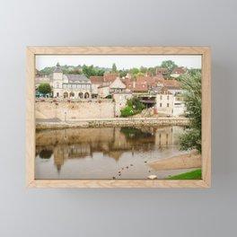 On the Banks of the Vézère River Framed Mini Art Print