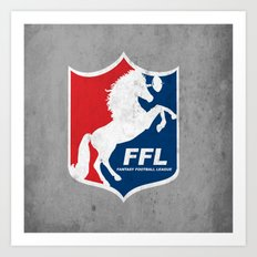 Fantasy Football League Art Print