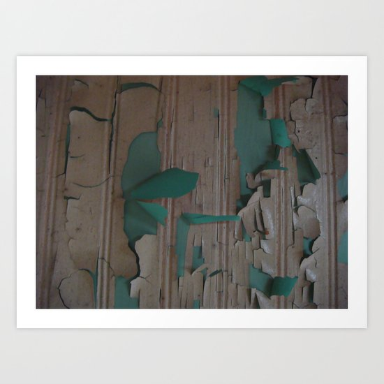 paint peel 2 Art Print