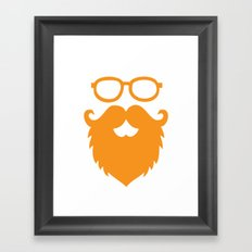 Hipster Beard Framed Art Print