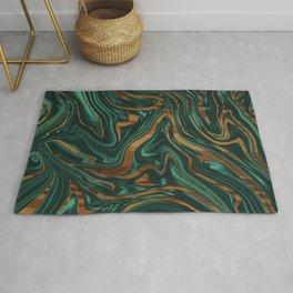 Emerald Green Black Wood Marble #1 #decor #art #society6 Rug
