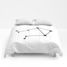 Libra Star Sign Black & White Comforters