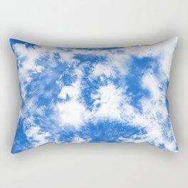Blue Tie Dye & Batik Rectangular Pillow