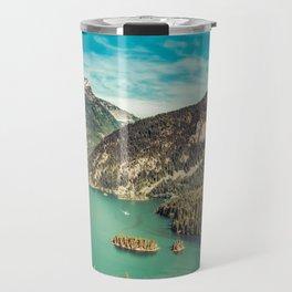 Lake Diablo - Blue and Green Water and Trees Travel Mug