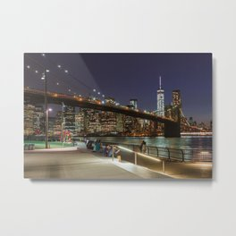Brooklyn Bridge Nights Metal Print