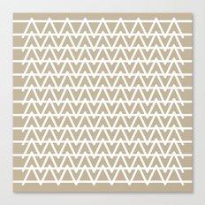 Grey & White pattern Canvas Print