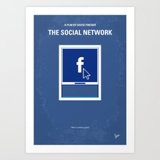 No779 My The Social Network minimal movie poster Art Print