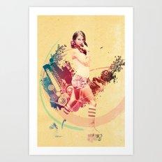 Summer Skating Jam Art Print