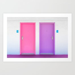 Pink and Purple Doors Art Print