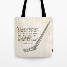 Famous Last words: Leonardo Da Vinci Tote Bag