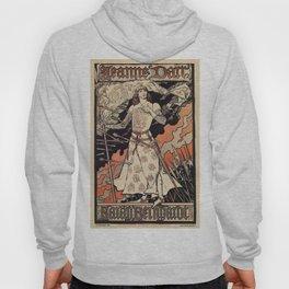 Sarah Bernhardt as Joan of Arc vintage theatre ad Hoody