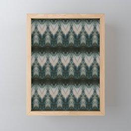 Shades of Green Shibori Framed Mini Art Print