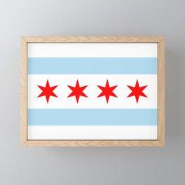 Chicago Flag Framed Mini Art Print