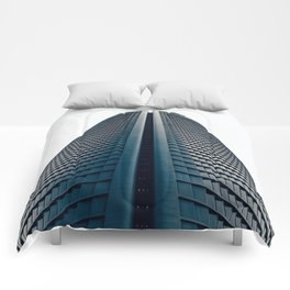 Skyscraper in Madrid Comforters