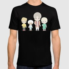 Girls in their Golden Years Black Mens Fitted Tee X-LARGE