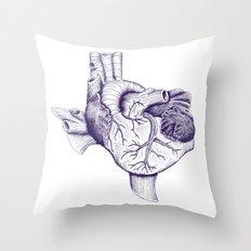 The Heart of Texas (TCU) Throw Pillow