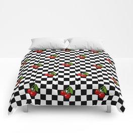 Checkered Cherries Comforters