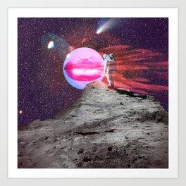 Astronaut kiss Art Print