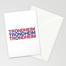 TRONDHEIM Norwegian Flag Stationery Cards