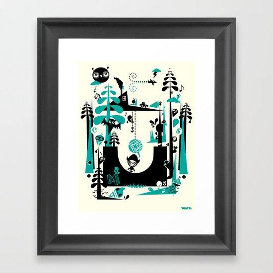 Time Alone Framed Art Print