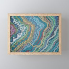 Frequencies Framed Mini Art Print