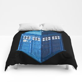 8 Bit Tardis Comforters