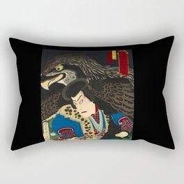 Hawks with worrior in Japan Rectangular Pillow