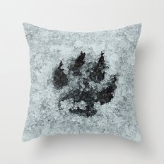 Printed In Snow Throw Pillow