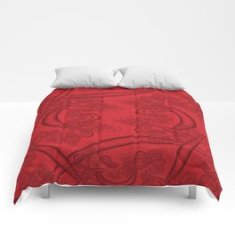 Flame Scarlet Fractal Comforters