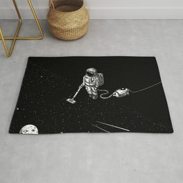 Space Clean Up by Astronaut Rug
