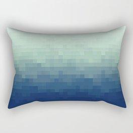 Gradient Pixel Aqua Rectangular Pillow