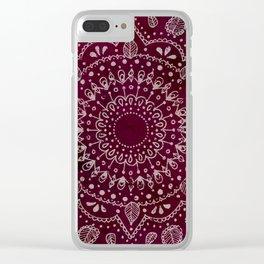 Wine Mandala Clear iPhone Case