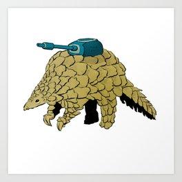 Armoured Pangolin Art Print