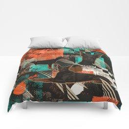 Dobermann - Doberman Pinscher Abstract Comforters