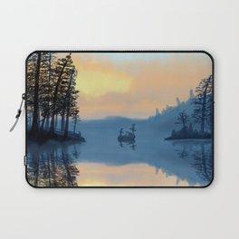 Fog on the lake Laptop Sleeve