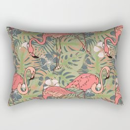 Pink flamingos. Rectangular Pillow