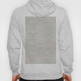 White Abstract Marble Pattern Hoody