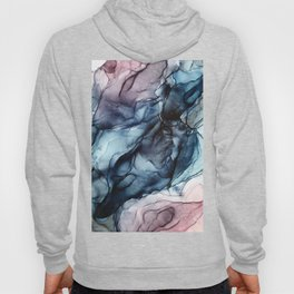 Blush and Darkness Abstract Paintings Hoody