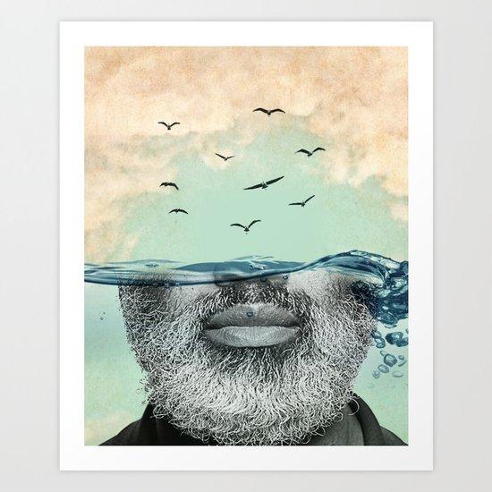 Under the water line Art Print