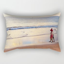 Relaxing Time on the Beach Sunday Afternoon Rectangular Pillow