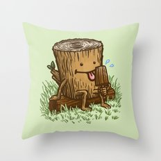 The Popsicle Log Throw Pillow