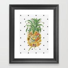 Pineapple Floral Framed Art Print