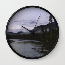 Dusk in Washington Wall Clock