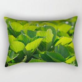 Hydrangea foliage Rectangular Pillow