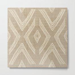 Birch in Tan Metal Print