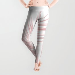 Blush Pink Palm Leaves Dream - Cali Summer Vibes #1 #tropical #decor #art #society6 Leggings