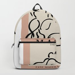 Henri matisse sleeping woman, matisse cut outs, cream and pink Backpack